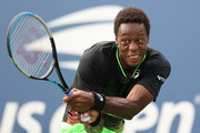 Gael Monfils of France returns the ball against Federico Coria of Argentina during his Men's Singles first round match on Day Two of the 2021 US Open at the Billie Jean King National Tennis Center on August 31, 2021 in the Flushing neighborhood of the Queens borough of New York City.