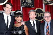 (L-R) Actors Timothy Simons, Sufe Bradshaw, Gary Cole, and Kevin Dunn attend the 20th Annual Screen Actors Guild Awards at The Shrine Auditorium on January 18, 2014 in Los Angeles, California.