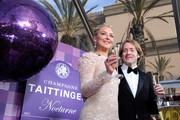 Actress Elisabeth Rohm (L) and Champagne Taittinger Export Manager Clovis Taittinger attend the 20th Annual Screen Actors Guild Awards at The Shrine Auditorium on January 18, 2014 in Los Angeles, California.