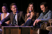 """Susan Kelechi Watson, Justin Hartley, Mandy Moore, Milo Ventimiglia attend 20th Century Fox Television And NBC's """"This Is Us"""" FYC Screening And Panel at The Theatre at Ace Hotel on May 29, 2018 in Los Angeles, California."""