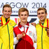 Jack Laugher Photos - (L-R) Silver medalist Matthew Mitcham of Australia, gold medalist Jack Laugher of England and bronze medalist Grant Nel of Australia pose during the medal ceremony for the Men's 1m Springboard Final at Royal Commonwealth Pool during day seven of the Glasgow 2014 Commonwealth Games on July 30, 2014 in Edinburgh, United Kingdom. - 20th Commonwealth Games: Diving