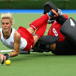 Sally Rutherford and Alex Danson