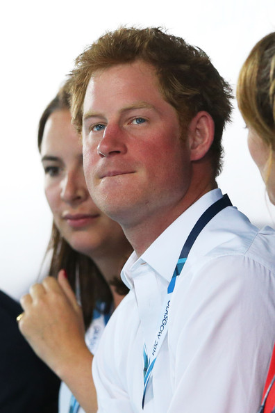 Prince Harry attends the evening session at Tollcross International Swimming Centre during day five of the Glasgow 2014 Commonwealth Games on July 28, 2014 in Glasgow, Scotland.