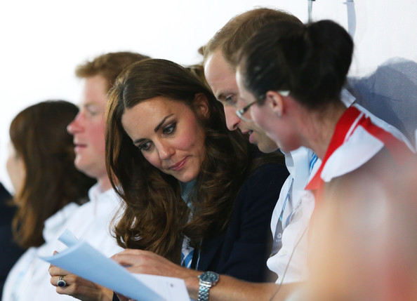 Catherine, Duchess of Cambridge and Prince William, Duke of Cambridge attend the evening session at Tollcross International Swimming Centre during day five of the Glasgow 2014 Commonwealth Games on July 28, 2014 in Glasgow, Scotland.
