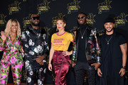 (L-R) DemDem, Maitre Gims, Vitaa, Dadju and Slimane arrives at the 20th NRJ Music Awards at Palais des Festivals on November 10, 2018 in Cannes, France.