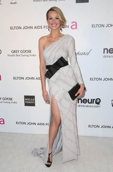 Model Petra Nemcova arrives at the 21st Annual Elton John AIDS Foundation's Oscar Viewing Party on February 24, 2013 in Los Angeles, California.