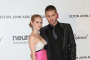 Actor Chad Michael Murray and Actress Kenzie Dalton arrive at the 21st Annual Elton John AIDS Foundation's Oscar Viewing Party on February 24, 2013 in Los Angeles, California.