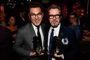 Honoree Joe Wright (L), recipient of the the Hollywood Director Award for 'Darkest Hour,' and honoree Gary Oldman, recipient of the Hollywood Career Achievement Award, attend the 21st Annual Hollywood Film Awards at The Beverly Hilton Hotel on November 5, 2017 in Beverly Hills, California.
