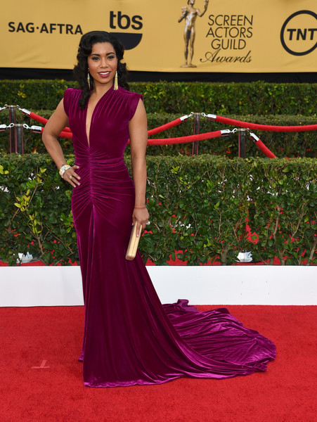 Actress Jessica Pimentel attends the 21st Annual Screen Actors Guild Awards at The Shrine Auditorium on January 25, 2015 in Los Angeles, California.