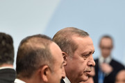 Turkish President Tayyip Erdogan attends the Family Photo session of the COP 21 on November 30, 2015 in Le Bourget, France. World leaders are meeting in Paris for the start of COP21, the two-week UN climate change summit, attempting to agree on an international deal to curb greenhouse gas emissions.
