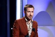 Ryan Gosling speaks onstage during the 22nd Annual Hollywood Film Awards at The Beverly Hilton Hotel on November 4, 2018 in Beverly Hills, California.
