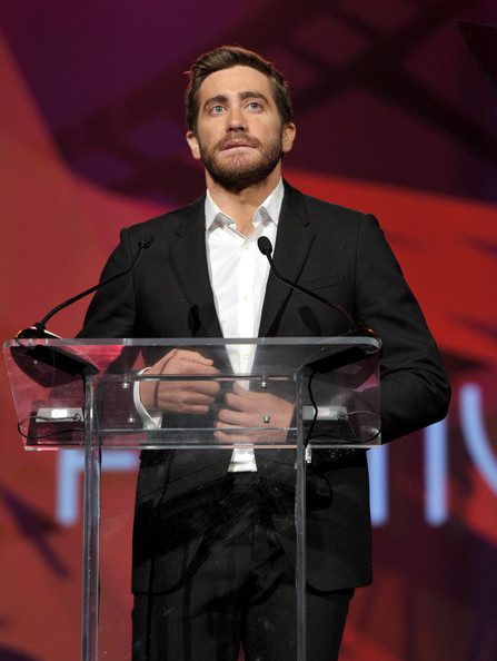 Actor Jake Gyllenhaal speaks onstage during the 22nd Annual Palm Springs International Film Festival Awards Gala at the Palm Springs Convention Center on January 8, 2011 in Palm Springs, California.