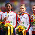 Eilidh Child Margaret Adeoye Photos - Bronze medalists (R-L) Eilidh Child, Kelly Massey, Shana Cox and Margaret Adeoye of Great Britain and Northern Ireland stand on the podium during the medal ceremony for the Women's 4 x 400m Relay Final during day six of the 22nd European Athletics Championships at Stadium Letzigrund on August 17, 2014 in Zurich, Switzerland. - 22nd European Athletics Championships: Day 6