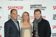 (L-R) HIFF Chairman Stuart Match Suna, HIFF Executive Director Anne Chaisson and Bobby Flay attend the Chairman's Reception during  Day 3 of the 23rd Annual Hamptons International Film Festival on October 10, 2015 in East Hampton, New York.