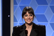 Dakota Johnson presents the Hollywood Actor Award onstage during the 23rd Annual Hollywood Film Awards at The Beverly Hilton Hotel on November 03, 2019 in Beverly Hills, California.