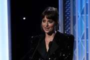 Dakota Johnson appears on stage at the 23rd Annual Hollywood Film Awards show at The Beverly Hilton Hotel on November 03, 2019 in Beverly Hills, California.