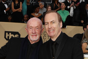 Actors Jonathan Banks (L) and Bob Odenkirk attend the 24th Annual Screen Actors Guild Awards at The Shrine Auditorium on January 21, 2018 in Los Angeles, California. 27522_017
