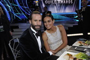 Joseph Fiennes and Maria Dolores Dieguez attend the 24th Annual Screen Actors Guild Awards  at The Shrine Auditorium on January 21, 2018 in Los Angeles, California. 27522_012