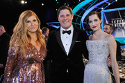 Actors (L-R) Connie Britton, Rich Sommer, and Allison Williams attend the 24th Annual Screen Actors Guild Awards  at The Shrine Auditorium on January 21, 2018 in Los Angeles, California. 27522_012