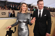 Actor Natalie Zea (L) and Travis Schuldt attends the 24th Annual Screen Actors Guild Awards at The Shrine Auditorium on January 21, 2018 in Los Angeles, California. 27522_010