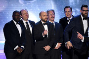 (L-R) Actors Sam Richardson, Dan Bakkedahl, Paul Scheer,Gary Cole, Nelson Franklin, and Timothy Simons accept the Outstanding Performance by an Ensemble in a Comedy Series award for 'Veep' onstage during the 24th Annual Screen Actors Guild Awards at The Shrine Auditorium on January 21, 2018 in Los Angeles, California. 27522_013