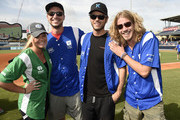 (L-R) Lauren Alaina, Eric Gunderson, Chuck Wicks and Bucky Covington step up to strike out cancer at City of Hope's 25th Annual Celebrity Softball Game at First Tennessee Park on June 13, 2015 in Nashville, Tennessee.