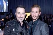 Host David Furnish (L) and actor Ryan Kwanten attend the 25th Annual Elton John AIDS Foundation's Academy Awards Viewing Party at The City of West Hollywood Park on February 26, 2017 in West Hollywood, California.