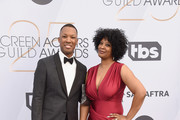 (L-R) Corey Hawkins and guest attend the 25th Annual Screen ActorsGuild Awards at The Shrine Auditorium on January 27, 2019 in Los Angeles, California. 480645