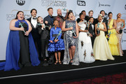 The cast of 'This Is Us,'  winners of Outstanding Performance by an Ensemble in a Drama Series, pose in the press room at the 25th annual Screen ActorsGuild Awards at The Shrine Auditorium on January 27, 2019 in Los Angeles, California.