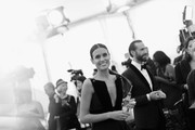 Image has been shot in black and white. No color version available)  Maria Dolores Dieguez and Joseph Fiennes attend the 25th Annual Screen Actors Guild Awards at The Shrine Auditorium on January 27, 2019 in Los Angeles, California. 480620