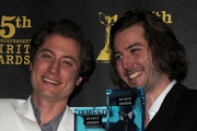 Filmakers Turner Ross and Bill Ross, winners of Chaz and Roger Ebert Truer than Fiction award, pose in the press room at the 25th Film Independent's Spirit Awards held at Nokia Event Deck at L.A. Live on March 5, 2010 in Los Angeles, California.