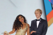 Josh Thomas and Jessica Mauboy present the ARIA for Breakthrough Artist at the 26th Annual ARIA Awards 2012 at the Sydney Entertainment Centre on November 29, 2012 in Sydney, Australia.