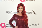 Farrah Abraham attends the 26th annual Elton John AIDS Foundation's Academy Awards Viewing Party at The City of West Hollywood Park on March 4, 2018 in West Hollywood, California.