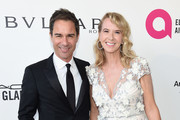 Eric McCormack (L) and Janet Holden attend the 26th annual Elton John AIDS Foundation Academy Awards Viewing Party sponsored by Bulgari, celebrating EJAF and the 90th Academy Awards at The City of West Hollywood Park on March 4, 2018 in West Hollywood, California.