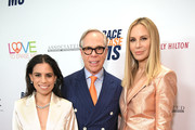 Ally Hilfiger, Tommy Hilfiger and Dee Ocleppo Hilfiger attend the 26th annual Race to Erase MS on May 10, 2019 in Beverly Hills, California.