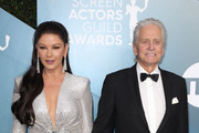 (L-R) Catherine Zeta-Jones and Michael Douglas attend 26th Annual Screen Actors Guild Awards at The Shrine Auditorium on January 19, 2020 in Los Angeles, California.