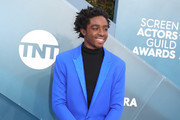 Caleb McLaughlin attends 26th Annual Screen Actors Guild Awards at The Shrine Auditorium on January 19, 2020 in Los Angeles, California.