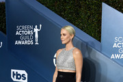 Charlize Theron attends the 26th Annual Screen Actors Guild Awards at The Shrine Auditorium on January 19, 2020 in Los Angeles, California.