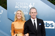 (L-R) Catherine O'Hara and Bo Welch attend the 26th Annual Screen ActorsGuild Awards at The Shrine Auditorium on January 19, 2020 in Los Angeles, California.