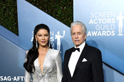 (L-R) Catherine Zeta-Jones and Michael Douglas attend the 26th Annual Screen Actors Guild Awards at The Shrine Auditorium on January 19, 2020 in Los Angeles, California.