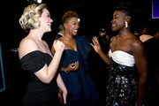 (L-R) Lauren Morelli, Samira Wiley and Lupita Nyong'o attend the 26th Annual Screen ActorsGuild Awards at The Shrine Auditorium on January 19, 2020 in Los Angeles, California.