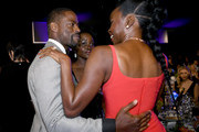 (L-R) Sterling K. Brown, Lupita Nyong'o and Danai Gurira attend the 26th Annual Screen ActorsGuild Awards at The Shrine Auditorium on January 19, 2020 in Los Angeles, California.