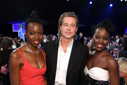 (L-R) Danai Gurira, Brad Pitt, and Lupita Nyong'o attend the 26th Annual Screen ActorsGuild Awards at The Shrine Auditorium on January 19, 2020 in Los Angeles, California. 721407