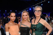 (L-R) Zoë Kravitz, Reese Witherspoon, and Meryl Streep attend the 26th Annual Screen Actors Guild Awards at The Shrine Auditorium on January 19, 2020 in Los Angeles, California. 721336
