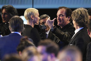 (L-R) Charlize Theron and Quentin Tarantino attend the 26th Annual Screen ActorsGuild Awards at The Shrine Auditorium on January 19, 2020 in Los Angeles, California. 721359