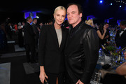 (L-R) Charlize Theron and Quentin Tarantino attend the 26th Annual Screen ActorsGuild Awards at The Shrine Auditorium on January 19, 2020 in Los Angeles, California. 721407