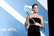 Phoebe Waller-Bridge, winner of Outstanding Performance by a Female Actor in a Comedy Series for 'Fleabag', poses in the press room during the 26th Annual Screen Actors Guild Awards at The Shrine Auditorium on January 19, 2020 in Los Angeles, California.