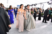 Camila Mendes and Lili Reinhart attend the 26th Annual Screen Actors Guild Awards at The Shrine Auditorium on January 19, 2020 in Los Angeles, California. 721313