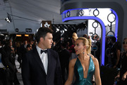 (L-R) Colin Jost and Scarlett Johansson attend the 26th Annual Screen ActorsGuild Awards at The Shrine Auditorium on January 19, 2020 in Los Angeles, California. 721407