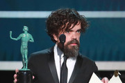 This image is a retransmission) . Peter Dinklage accepts Outstanding Performance by a Male Actor in a Drama Series for 'Game of Thrones'  onstage during the 26th Annual Screen ActorsGuild Awards at The Shrine Auditorium on January 19, 2020 in Los Angeles, California.